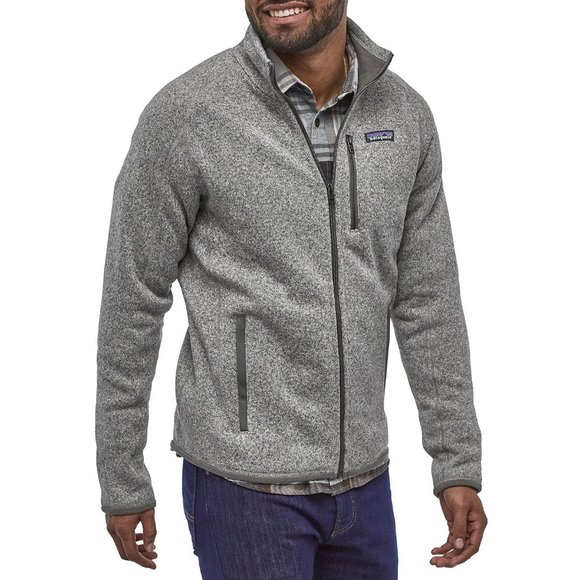 NWT PATAGONIA Size XL Mens Better Sweater Heathered Fleece Jacket Gray New